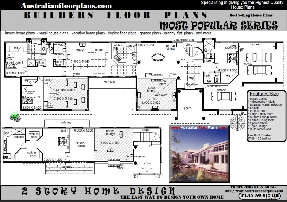Oprah house australia stunning affordable home plans for House plans australia