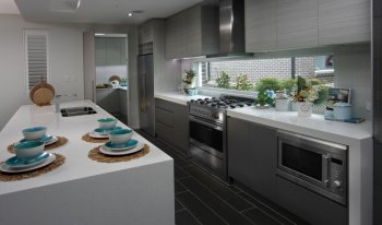 Australian galley kitchen butlers pantry design kitchen for Galley kitchen designs australia