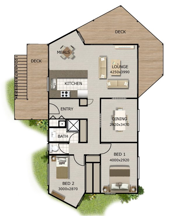 New 2 bedroom home design 2 bedrooms houses 2 bedroom for House floor plans australia