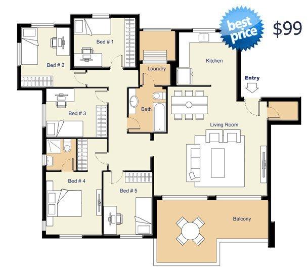 Affordable real estate floor plans professional floor for Floor plans for real estate marketing