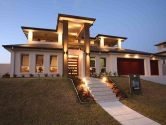 Free modern double storey house plans house modern for Home design ideas australia