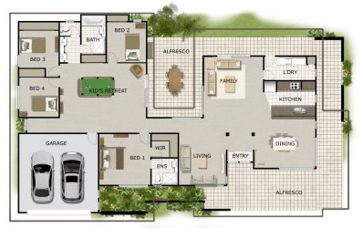 single level house plans with photos - Single Floor House Plans