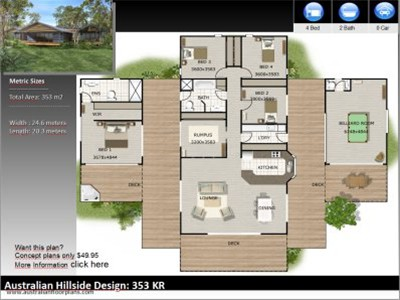 Hillside house plans australia home design and style Hillside greenhouse plans