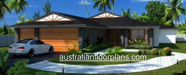 4 Bed Triple Garage House Plan 341clm Australian Dream Home See
