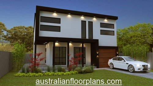 4 Bed Flat Roof 2 Storey Plan 356rm 4 Bed Study 2 Bath 2 Story Flat Roof House Plans Australia 4 Bedroom 2 Story Floor Plans Australia