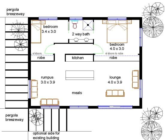 2 Bedroom Extenision Plan 2 Bedroom Home Renovation Design Plus Many More 2 Bedroom House Plans