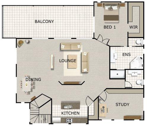 4 Bedroom + Office + Rumpus Rm Kit Home Designs