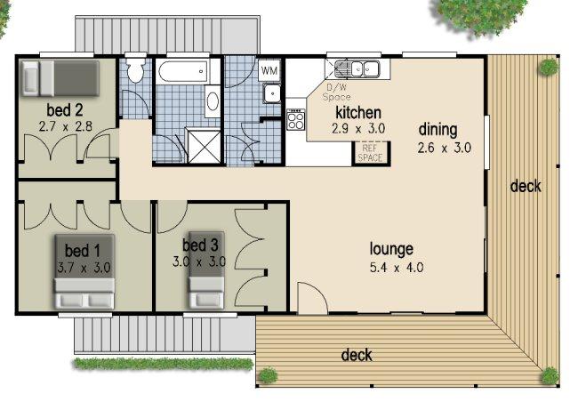 3 Bed Beach House 2 Storey Floor Plan 166kr 3 Bedroom 2 Story House Plans Australia 3 Bedroom 2 Story Floor Plans Australia