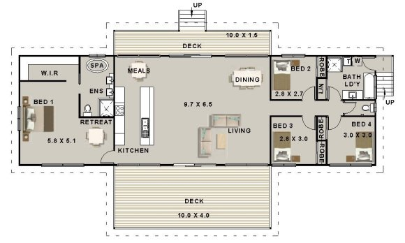 4 Bedroom Pole Home Plan No 213kr 4 Bed 2 Bath 4