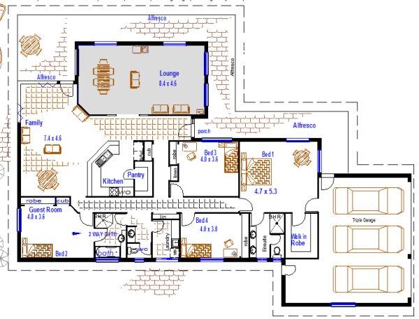 Large 4 Bedroom House Design Triple Garage Display Homes