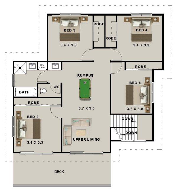 Hillside Plan With Garage Under 69131am: 6 Bed + Garage Under Design:397MT