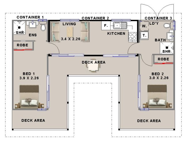 2 Bedroom Shipping Container Home Design Homestead Look Container Home 2 Bedroom Container Home Plans Cheap Home 2 Bedroom Shipping Container Homes Shipping Container Home Plans Shipping Container